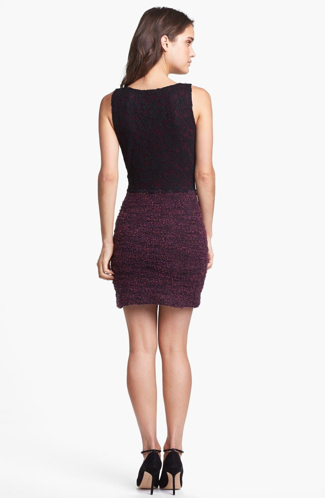 Alternate Image 2  - Bailey 44 'Enshadowed Heart' Lace & Bouclé Dress