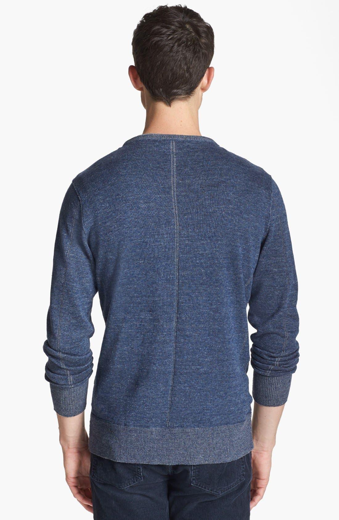 Alternate Image 2  - John Varvatos Star USA Linen Blend Crewneck Sweater