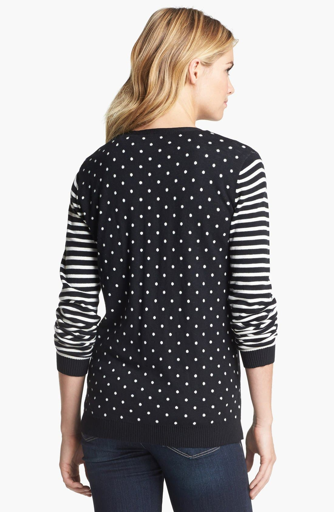 Alternate Image 3  - Two by Vince Camuto Dot & Stripe Cardigan