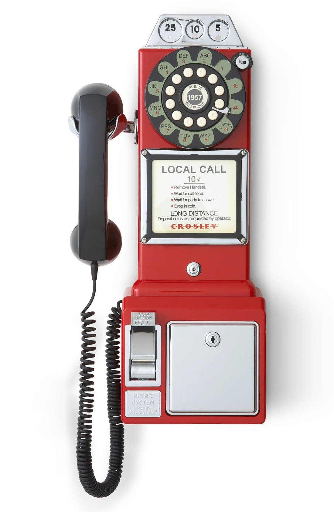 'Pay Phone' Wall Phone,                             Main thumbnail 1, color,                             Red