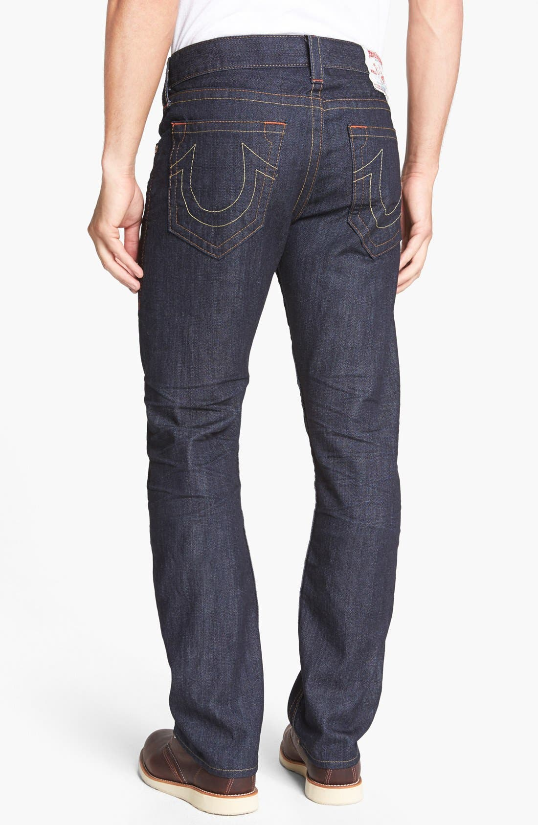 Alternate Image 1 Selected - True Religion Brand Jeans 'Bobby' Straight Leg Jeans (Bz Inglorious)