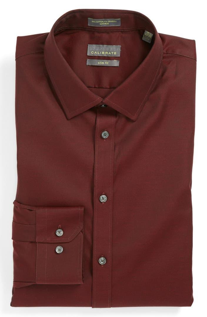 Calibrate Slim Fit Non Iron Dress Shirt Nordstrom