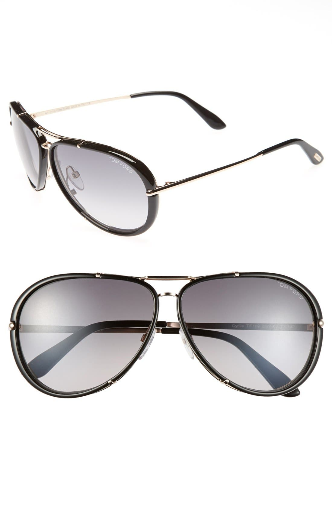 Alternate Image 1 Selected - Tom Ford 'Cyrille' 63mm Sunglasses