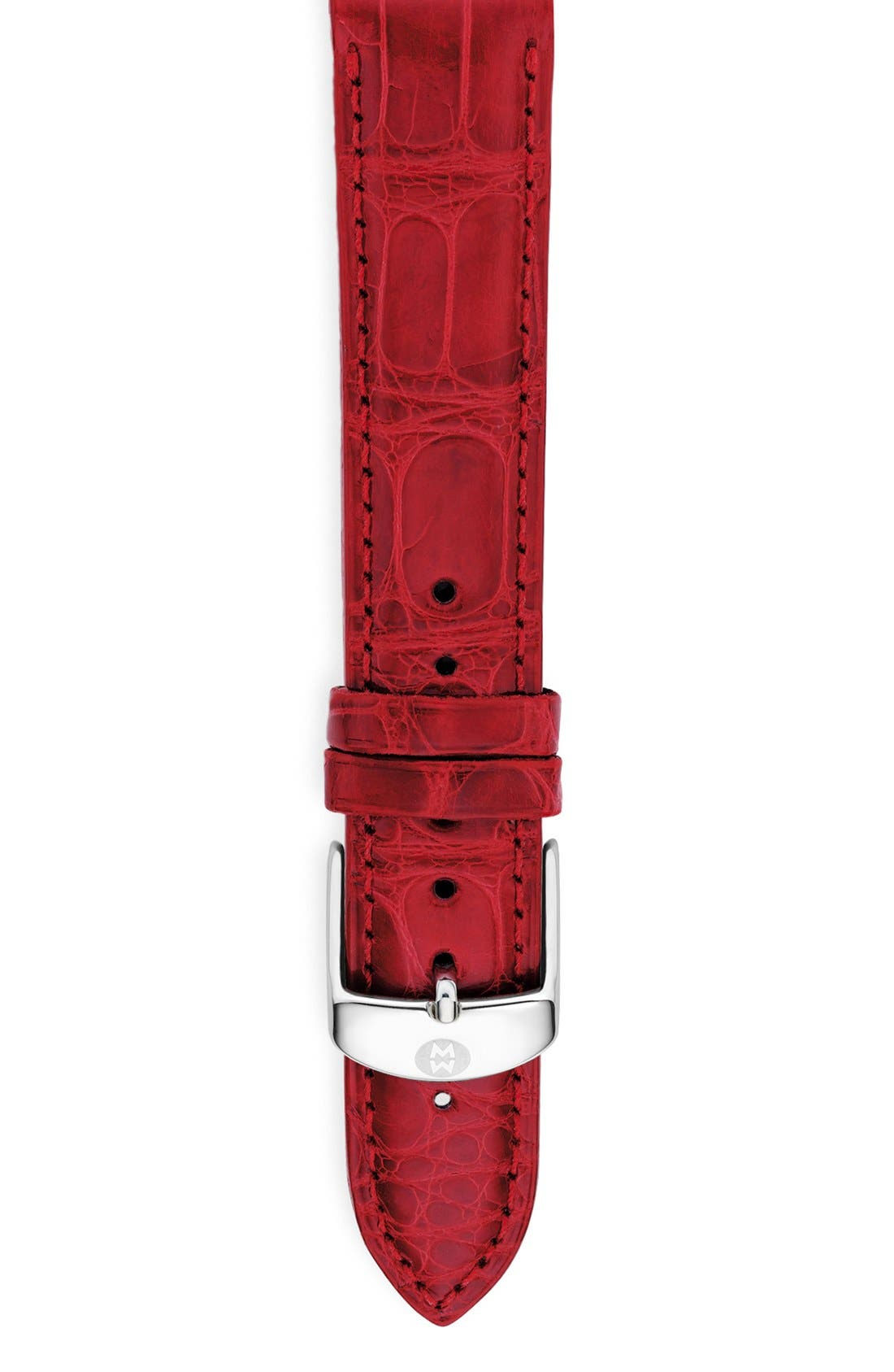 Main Image - MICHELE 18mm Alligator Watch Strap