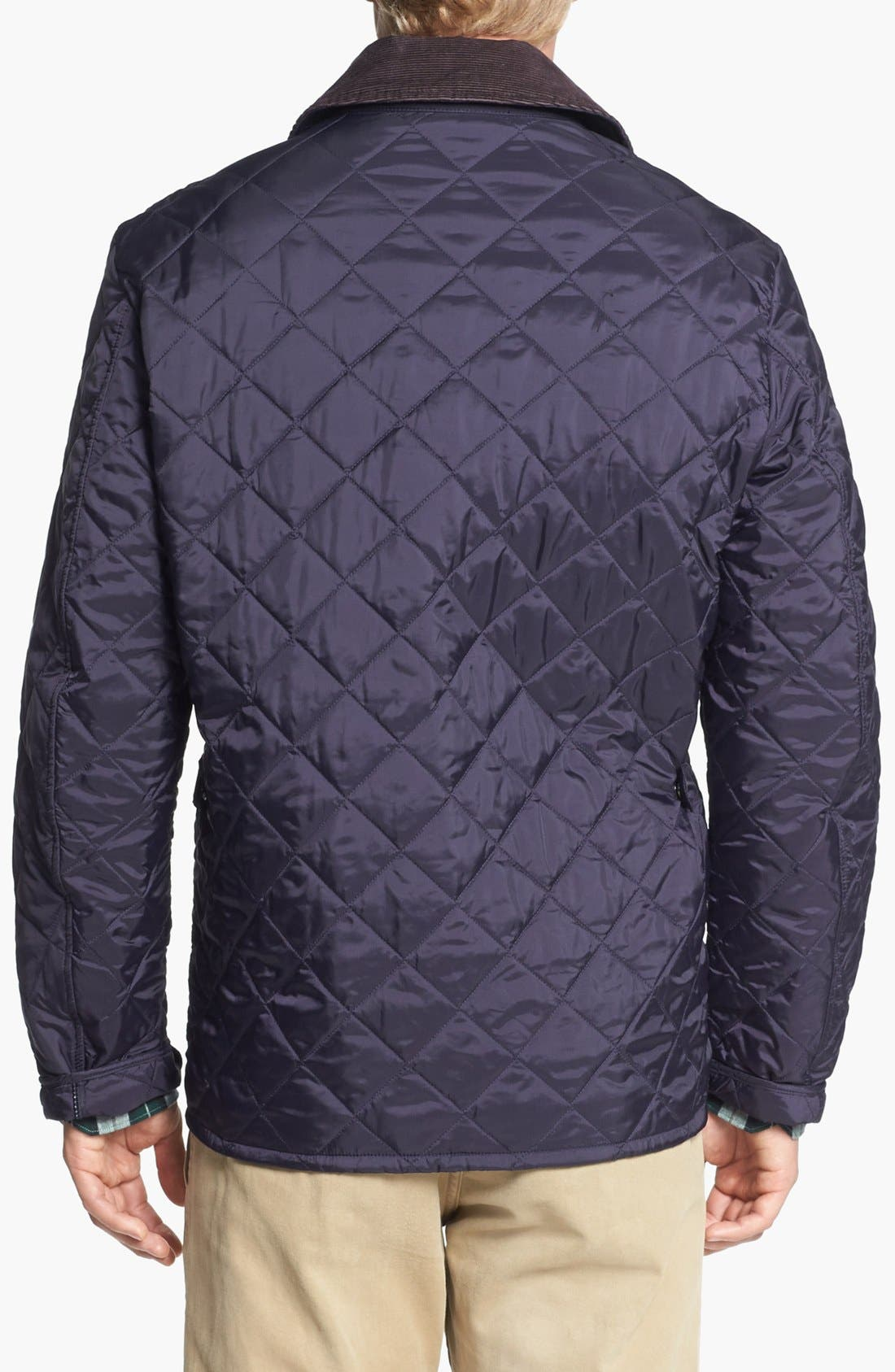 'Tinford' Regular Fit Quilted Jacket,                             Alternate thumbnail 2, color,                             Navy