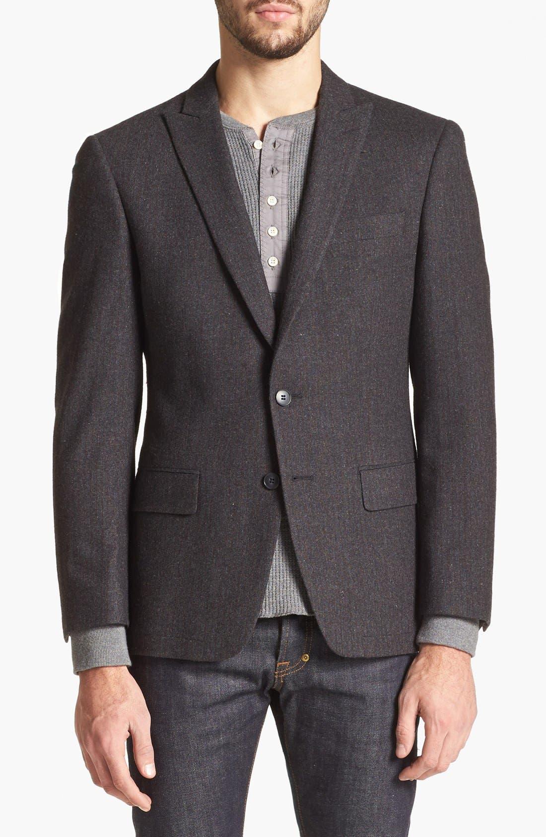 Main Image - John Varvatos Star USA Stripe Wool Blend Sportcoat