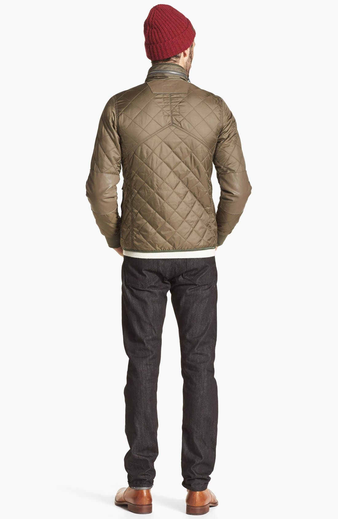 Alternate Image 6  - J Brand 'Tyler' Slim Fit Jeans (Black Raw)