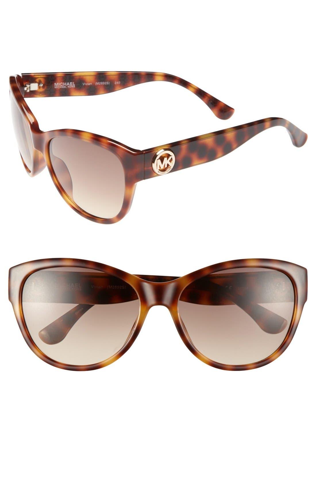 Alternate Image 1 Selected - MICHAEL Michael Kors 'Vivian' 57mm Sunglasses