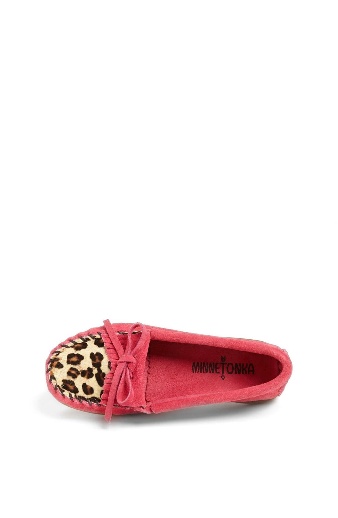 Alternate Image 3  - Minnetonka 'Kilty - Leopard' Moccasin (Walker, Toddler, Little Kid & Big Kid)