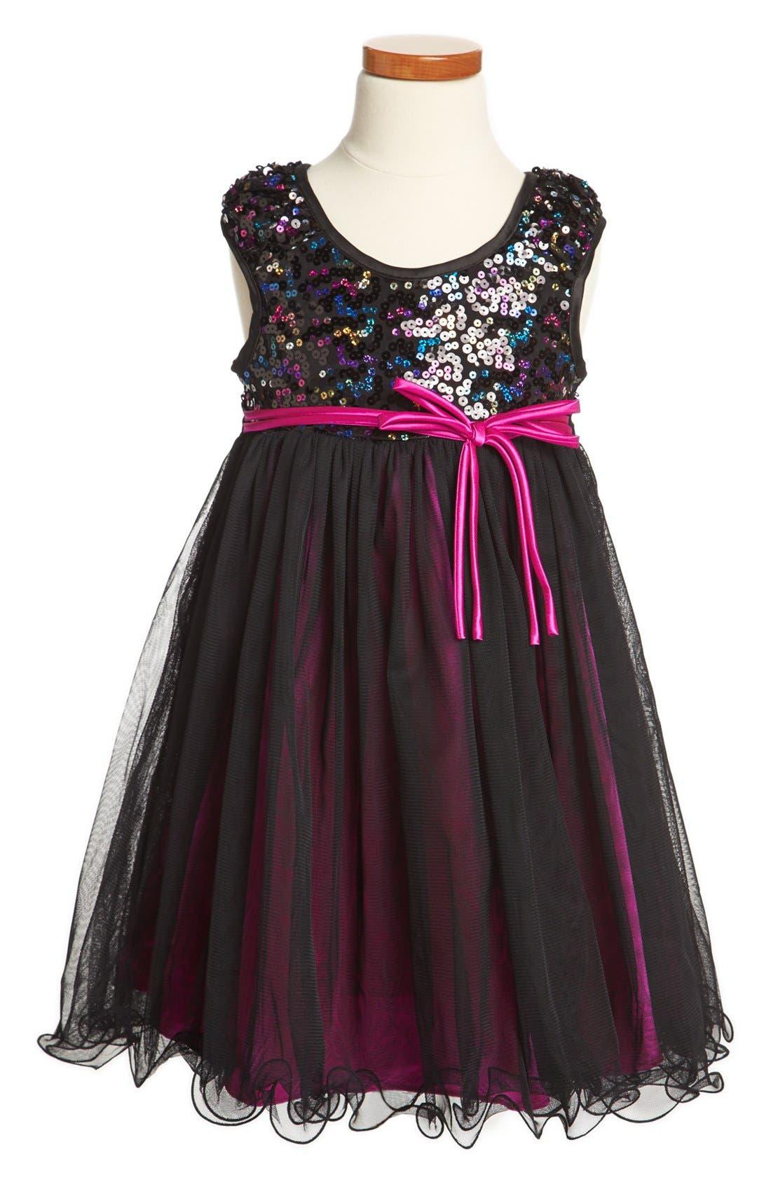Main Image - Iris & Ivy Sequin Dress (Little Girls & Big Girls)
