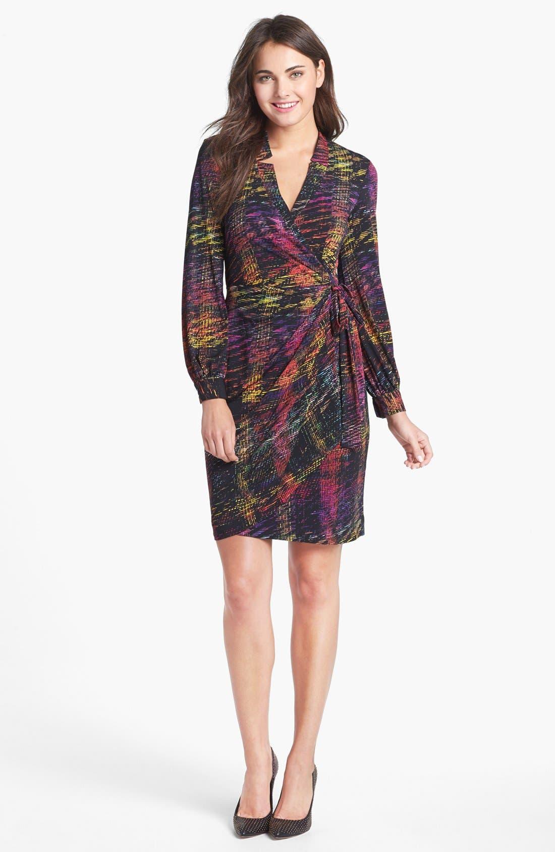 Print Jersey Wrap Dress,                         Main,                         color, Multi