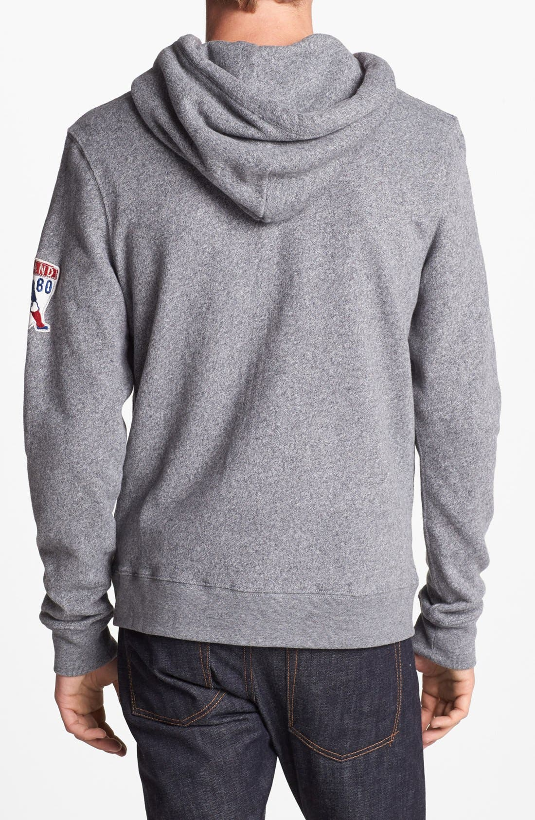 Alternate Image 2  - Junk Food 'New England Patriots - Sunday' Zip Hoodie