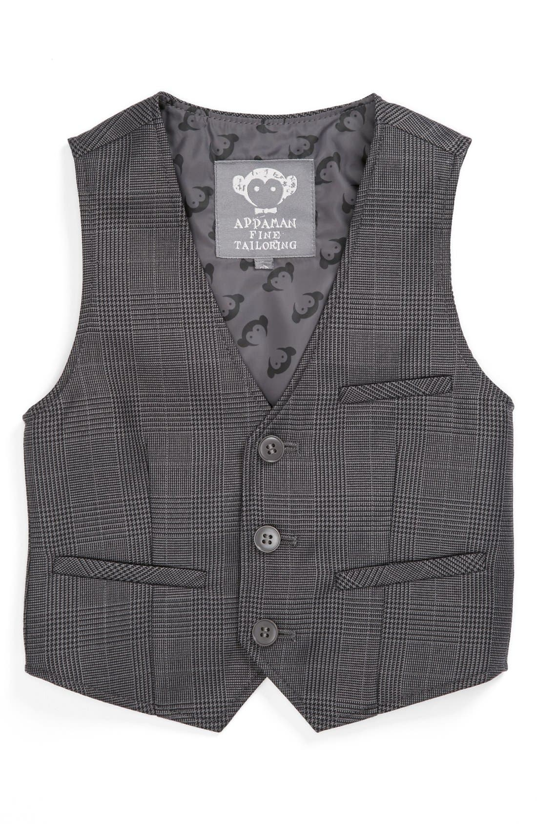 Alternate Image 1 Selected - Appaman Glen Plaid Vest (Toddler Boys)