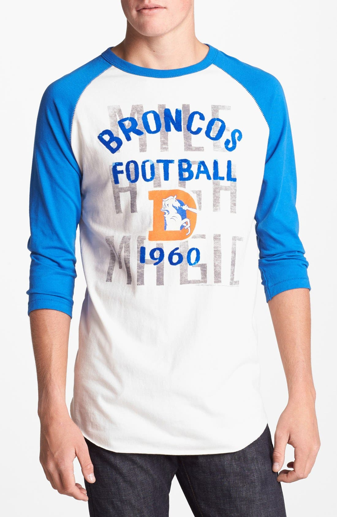 Alternate Image 1 Selected - Junk Food 'Denver Broncos - Rookie' Baseball T-Shirt