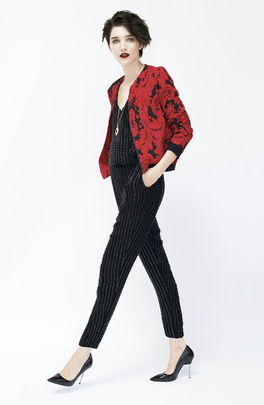 Alternate Image 4  - Parker 'Autumn' Beaded Silk Jumpsuit
