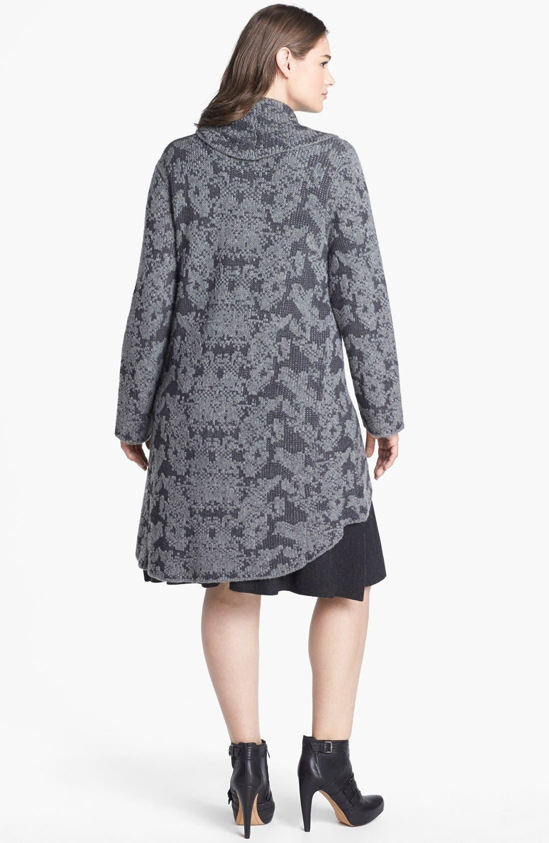 Alternate Image 2  - Eileen Fisher Shawl Collar Cardigan (Plus Size)