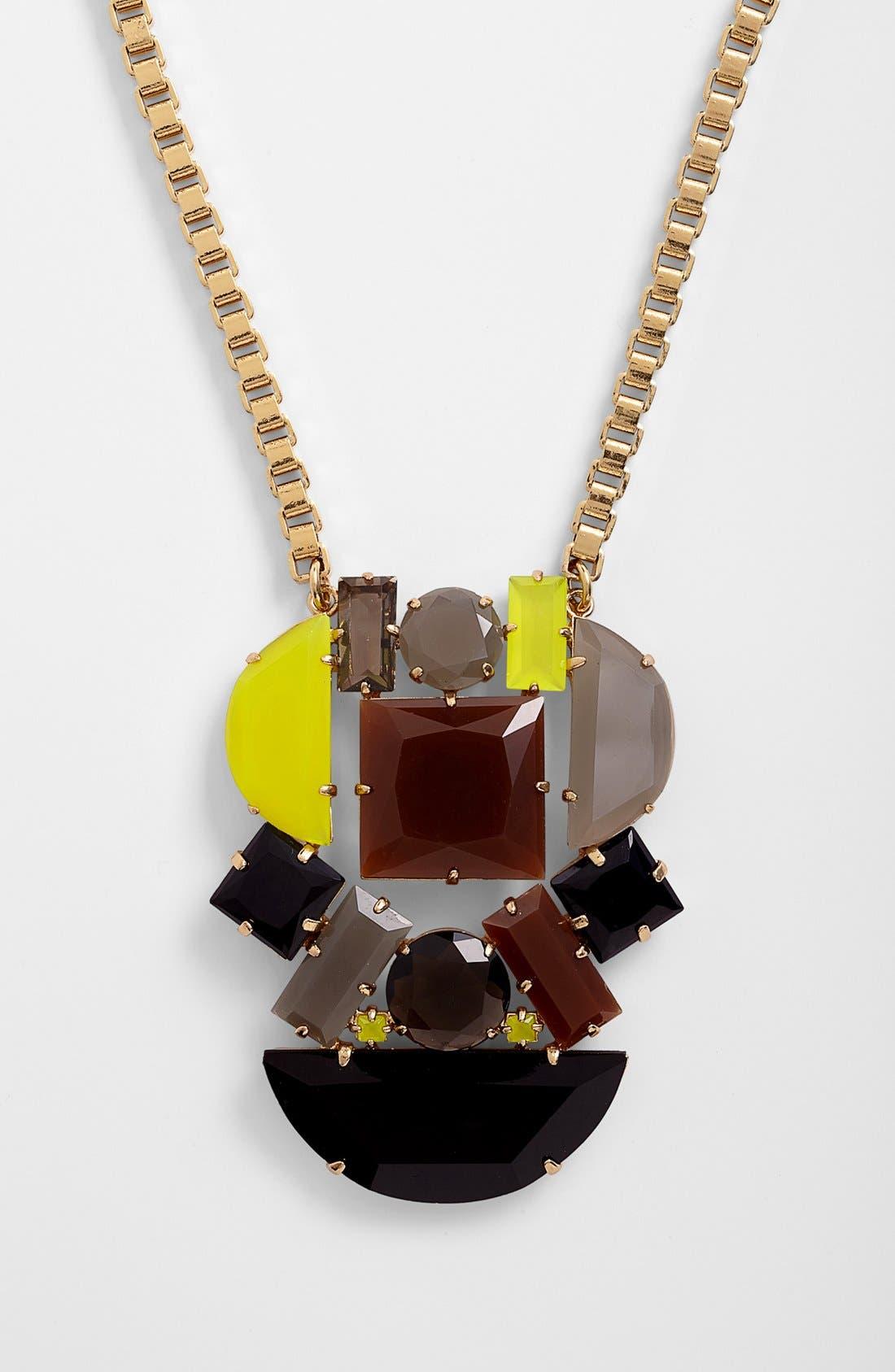 Alternate Image 1 Selected - kate spade new york 'mod money' statement pendant necklace