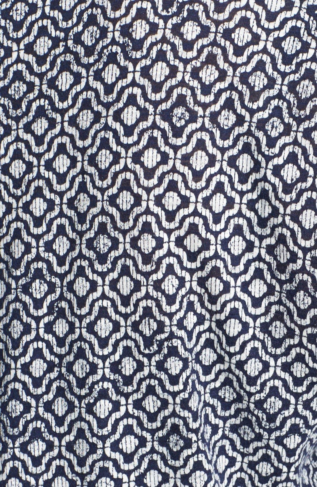 Alternate Image 3  - Lucky Brand Geo Tile Blouson Top (Plus Size)