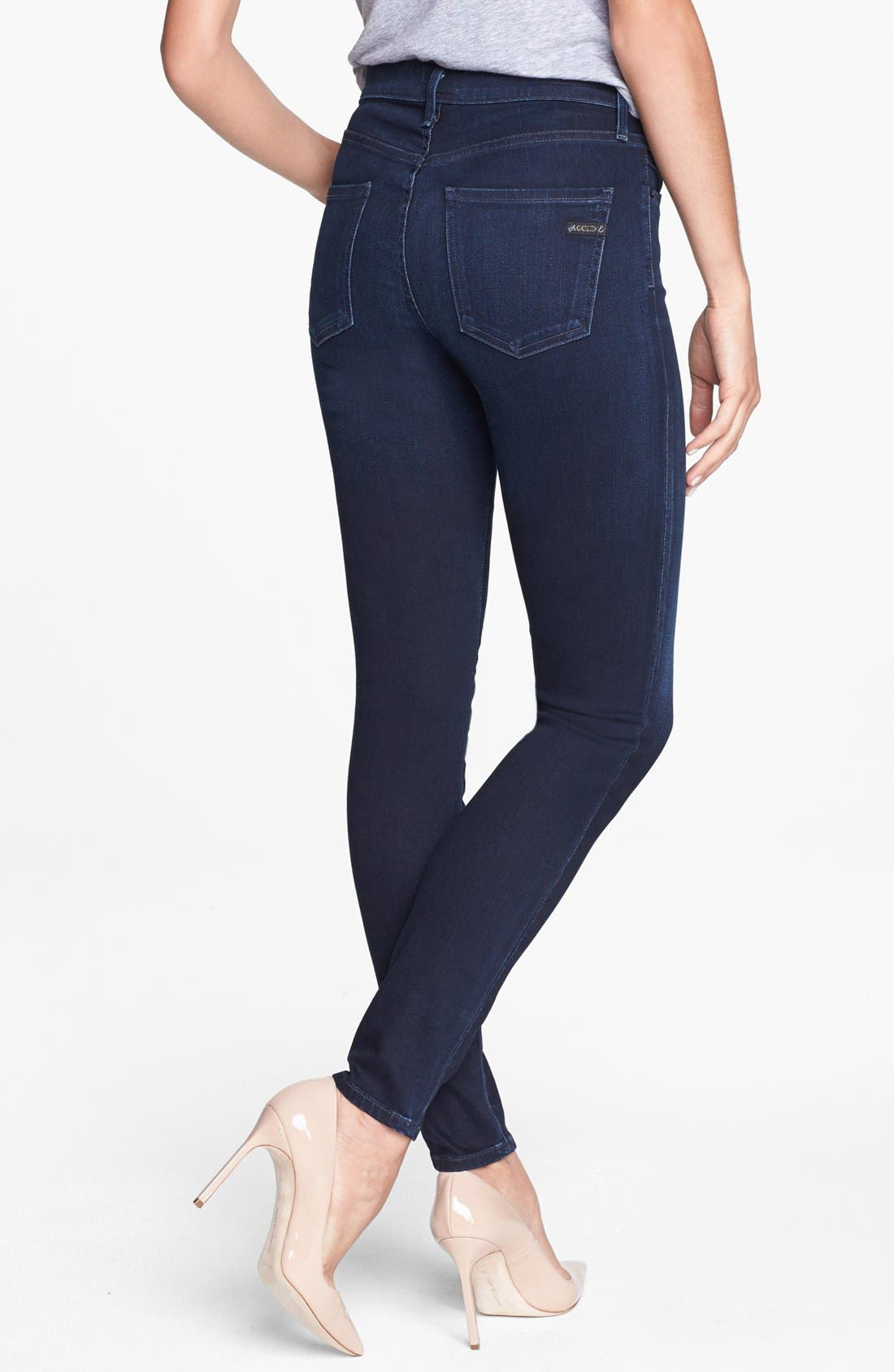 Alternate Image 2  - A Gold E 'Sophie' High Rise Skinny Jeans (Midnight)