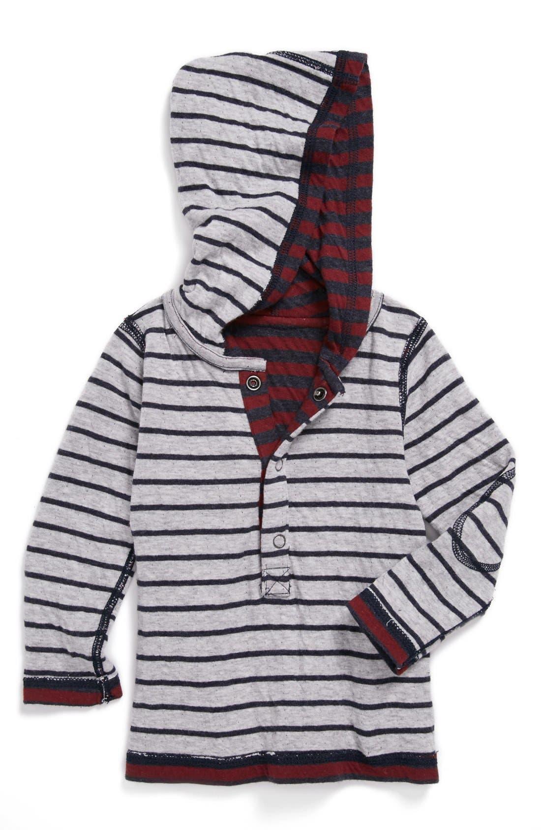 Alternate Image 2  - Tucker + Tate Reversible Long Sleeve Henley Hoodie (Toddler)