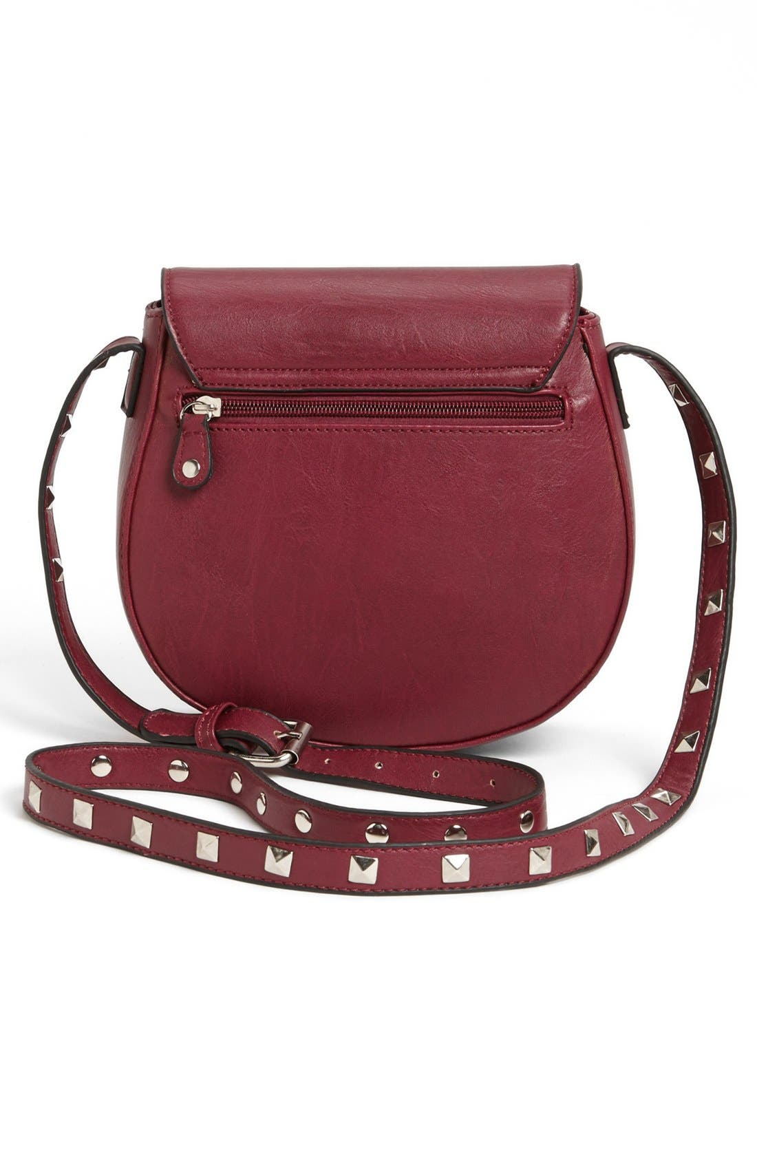 Alternate Image 4  - Emperia Faux Leather Crossbody Bag (Juniors)