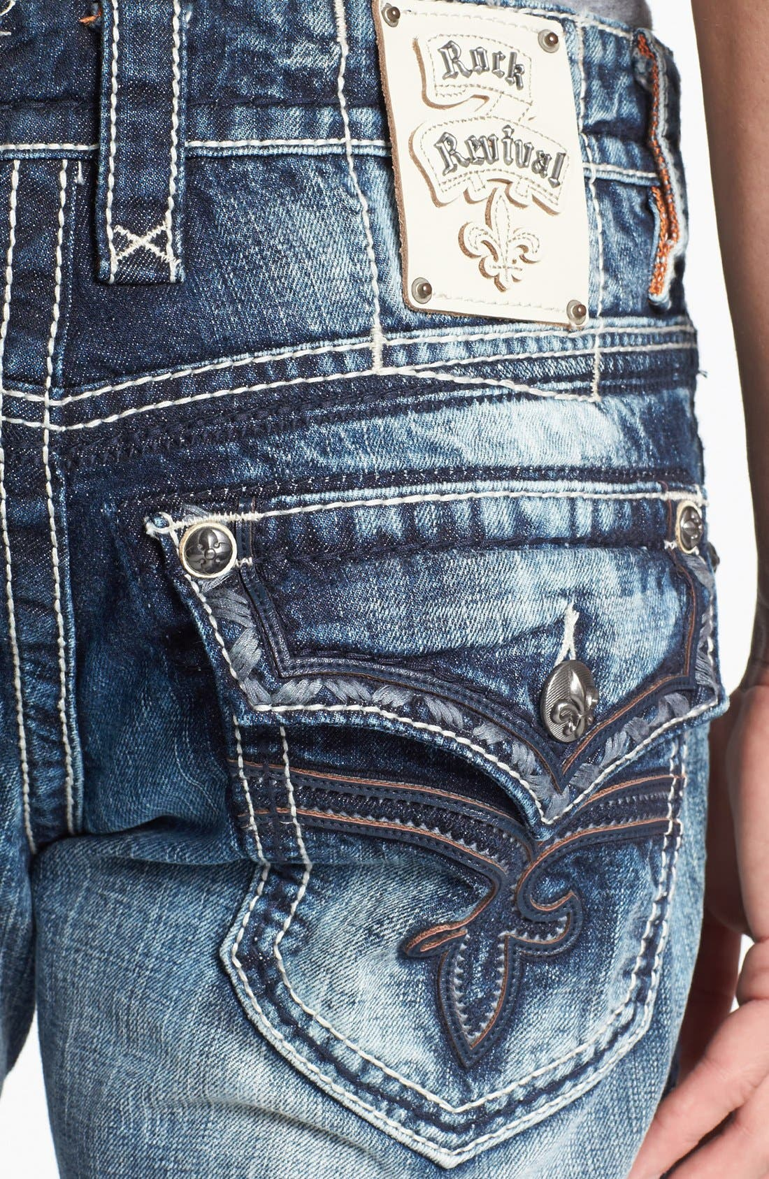 Alternate Image 4  - Rock Revival 'Carter' Straight Leg Jeans (Light Blue)