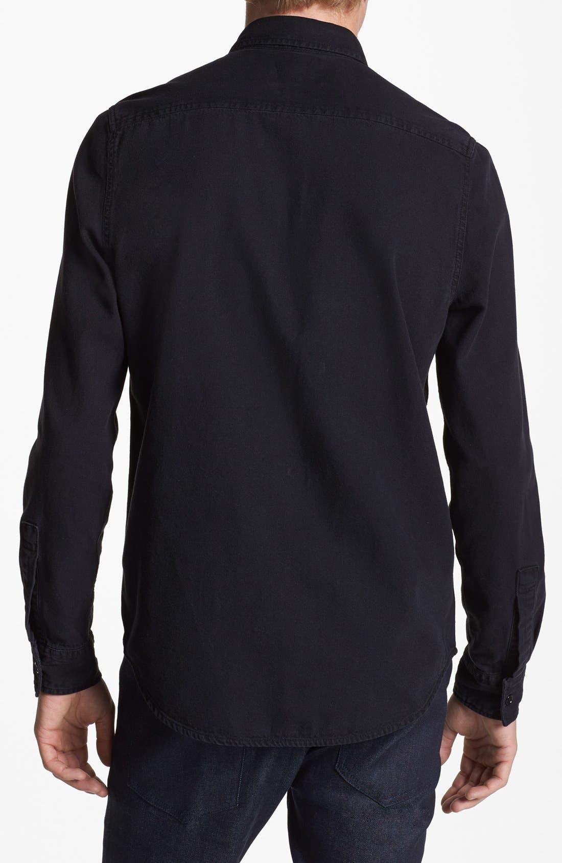 Alternate Image 2  - Topman Black Denim Shirt