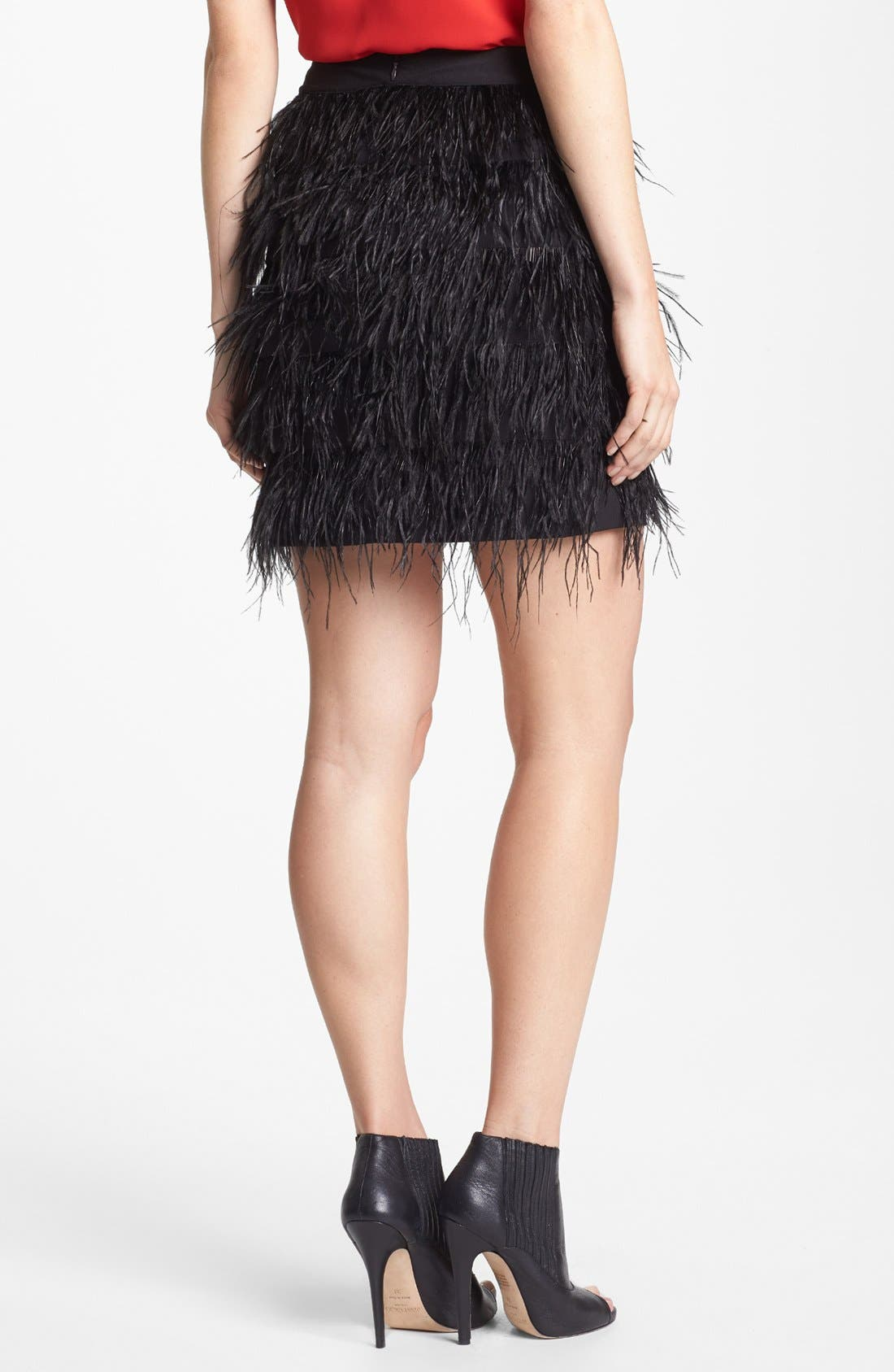 Alternate Image 2  - Vince Camuto Feather Tiered Miniskirt