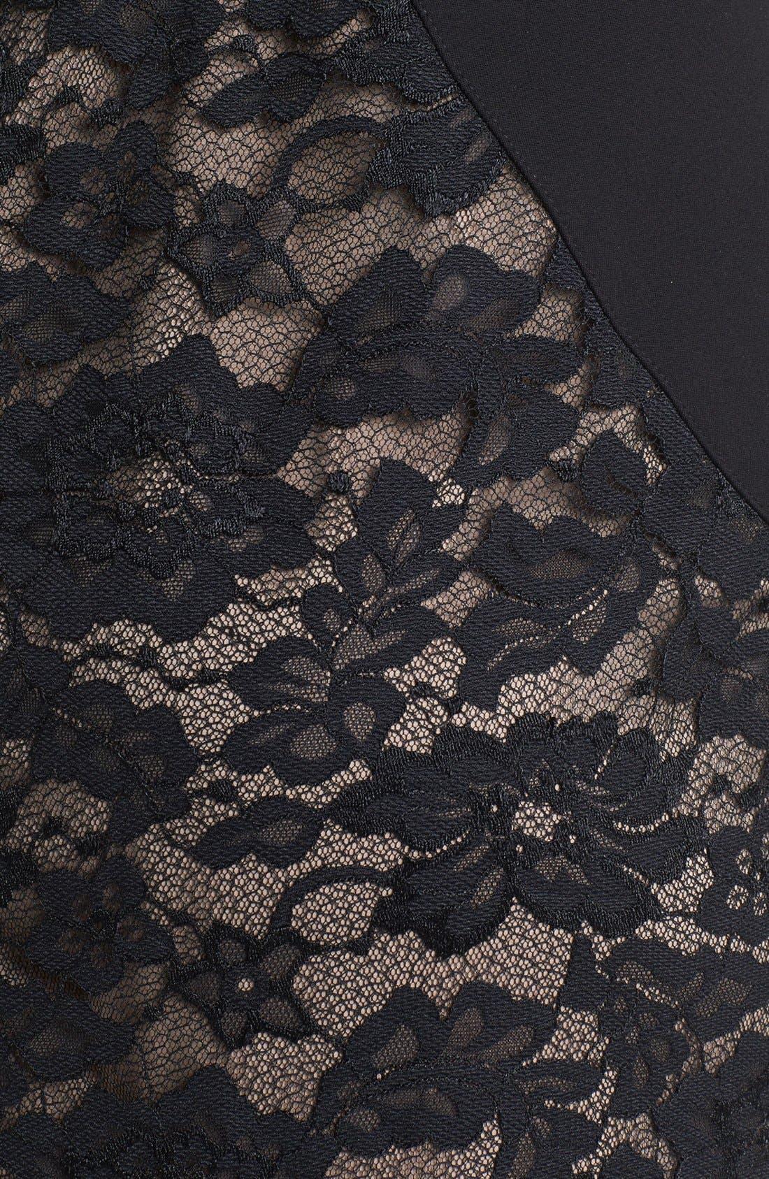 Alternate Image 3  - Aidan Mattox Lace Paneled Body-Con Dress