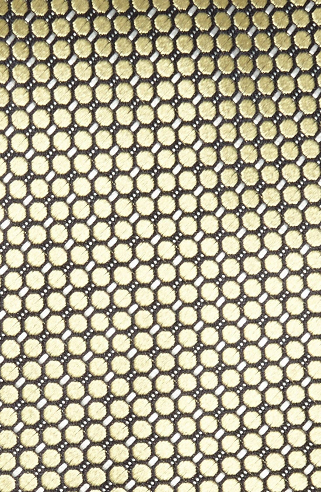 Alternate Image 2  - Ermenegildo Zegna Solid Circle Grid Woven Silk Tie