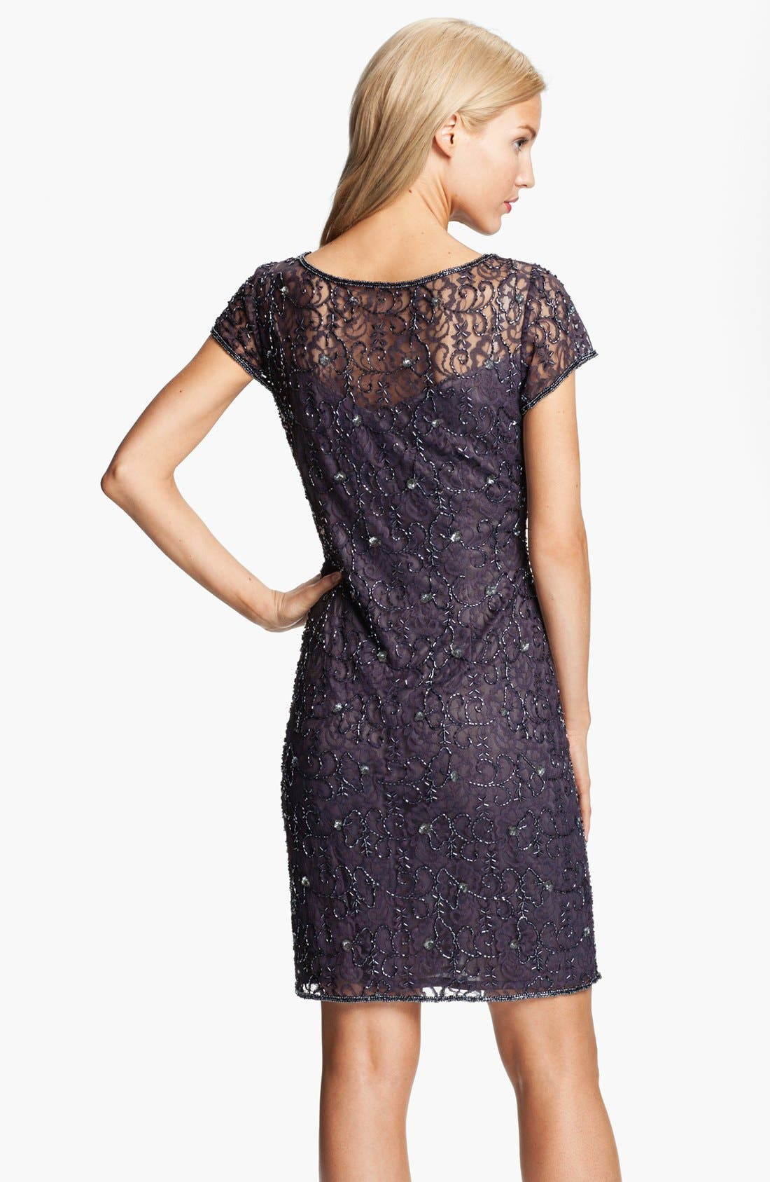 Alternate Image 2  - Pisarro Nights Beaded Lace Sheath Dress