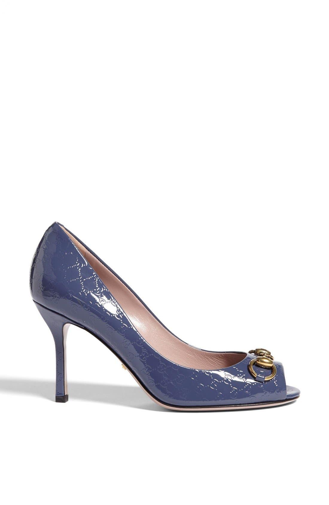 Alternate Image 4  - Gucci 'Jolene' Peep Toe Pump