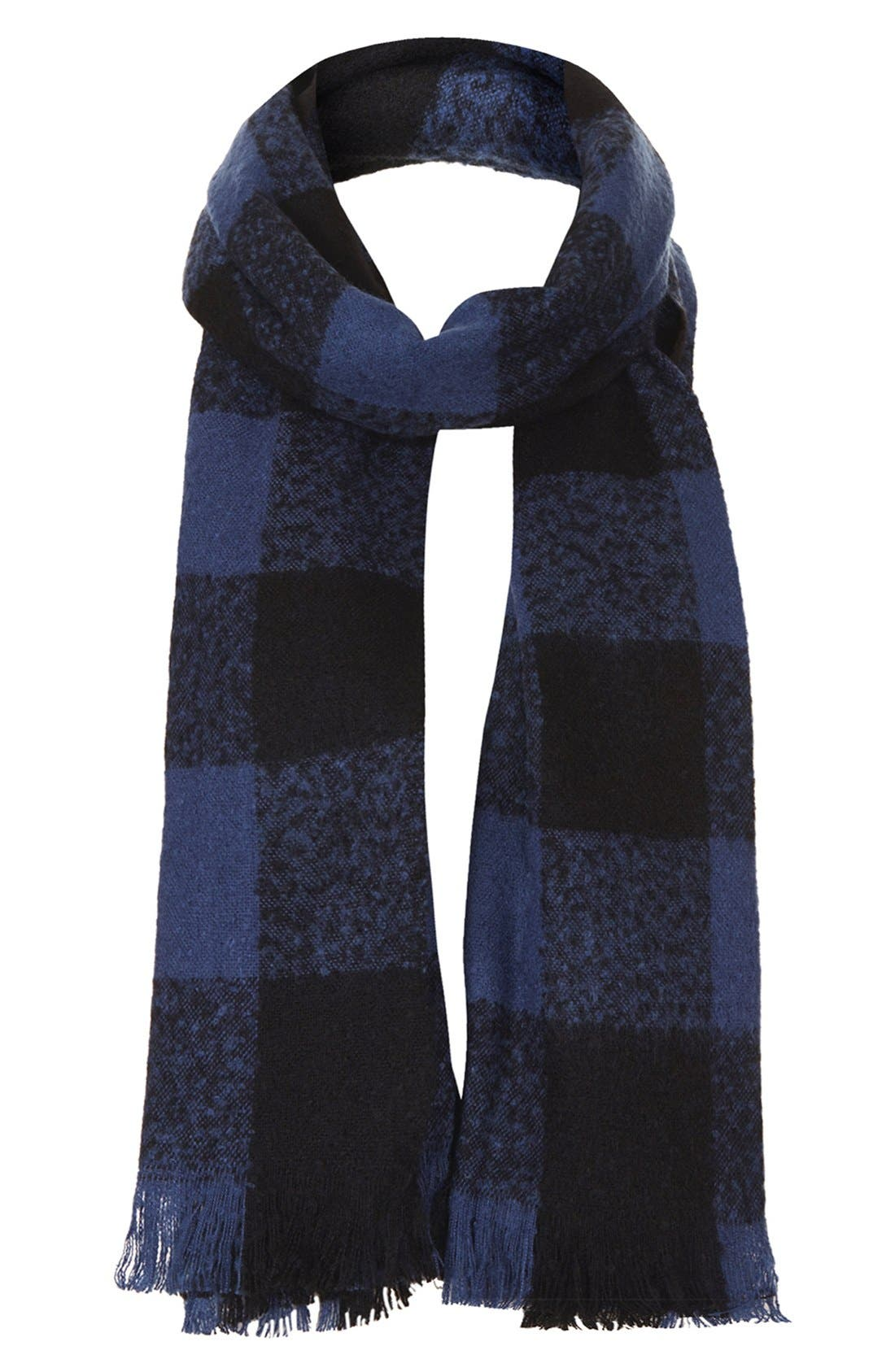 Alternate Image 1 Selected - Topshop Check Print Scarf