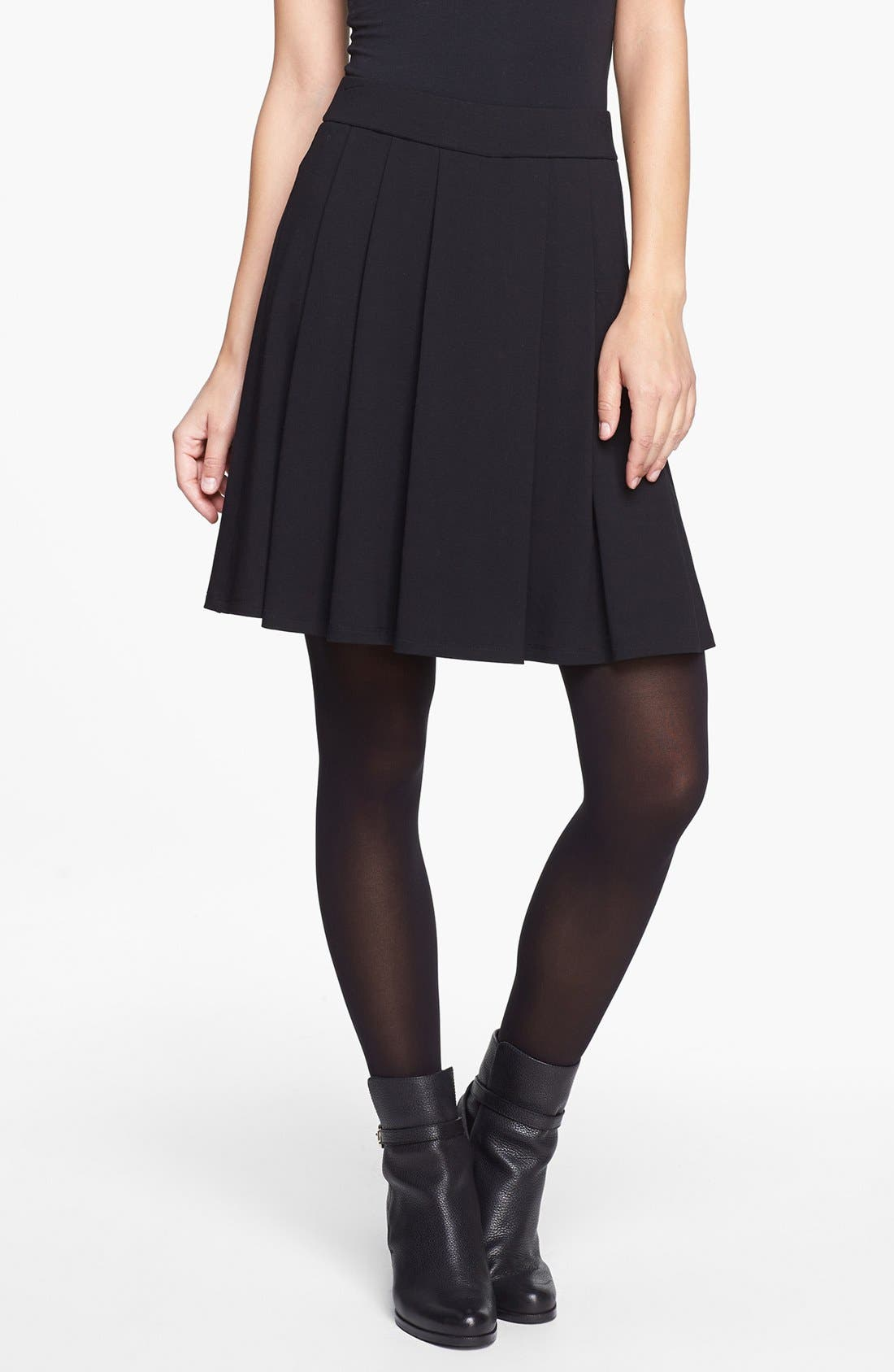 Alternate Image 1 Selected - Eileen Fisher Pleated Skirt (Regular & Petite)