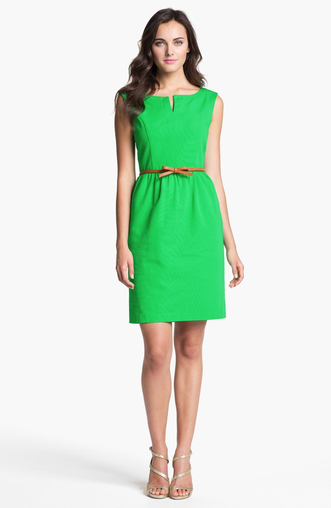 Main Image - Ellen Tracy Cap Sleeve Sheath Dress