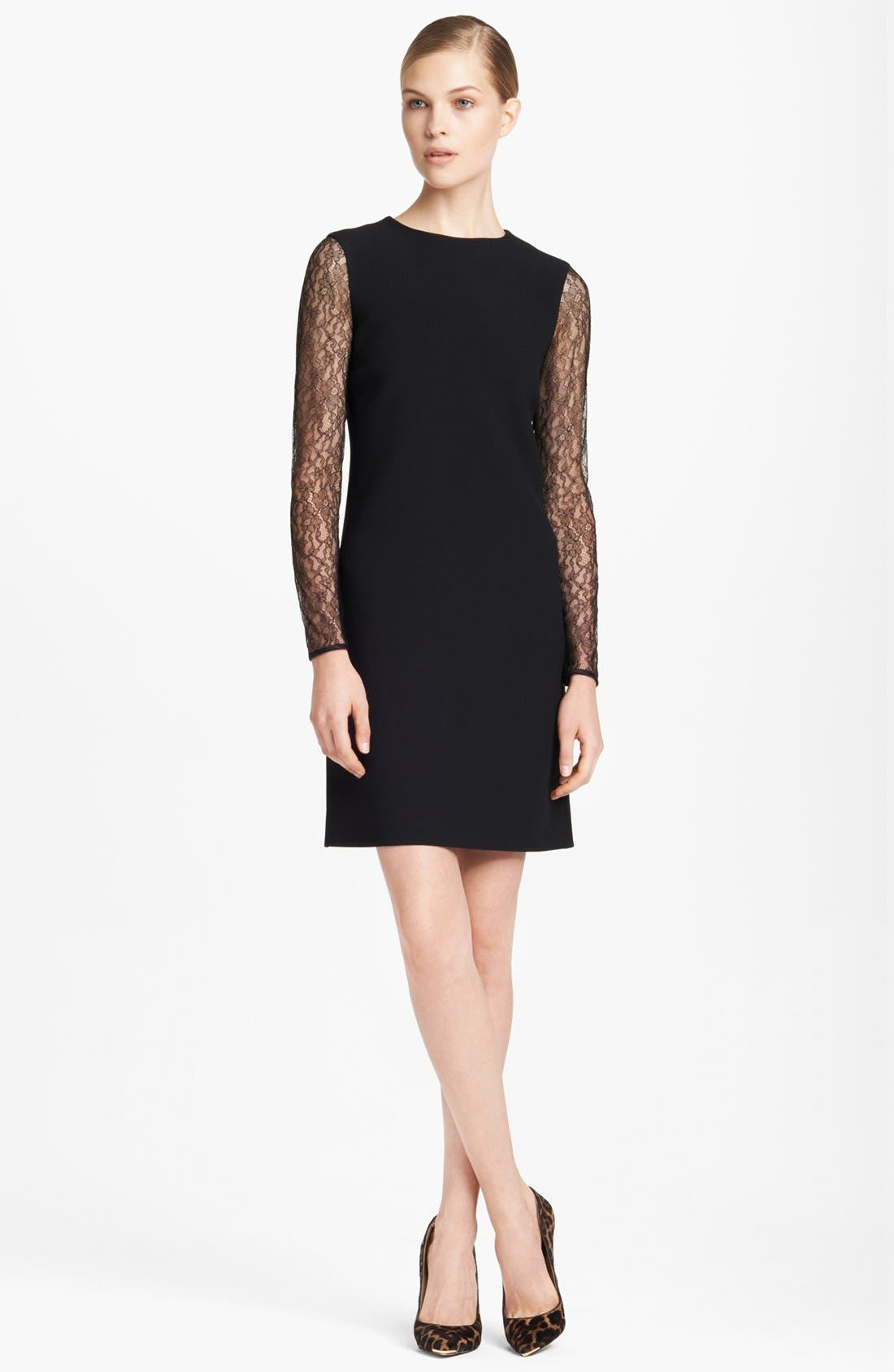 Alternate Image 1 Selected - Michael Kors Lace Sleeve Dress