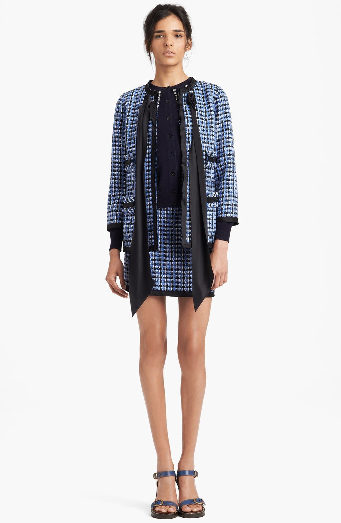 Alternate Image 3  - MARC JACOBS Wool Blend Tweed Miniskirt