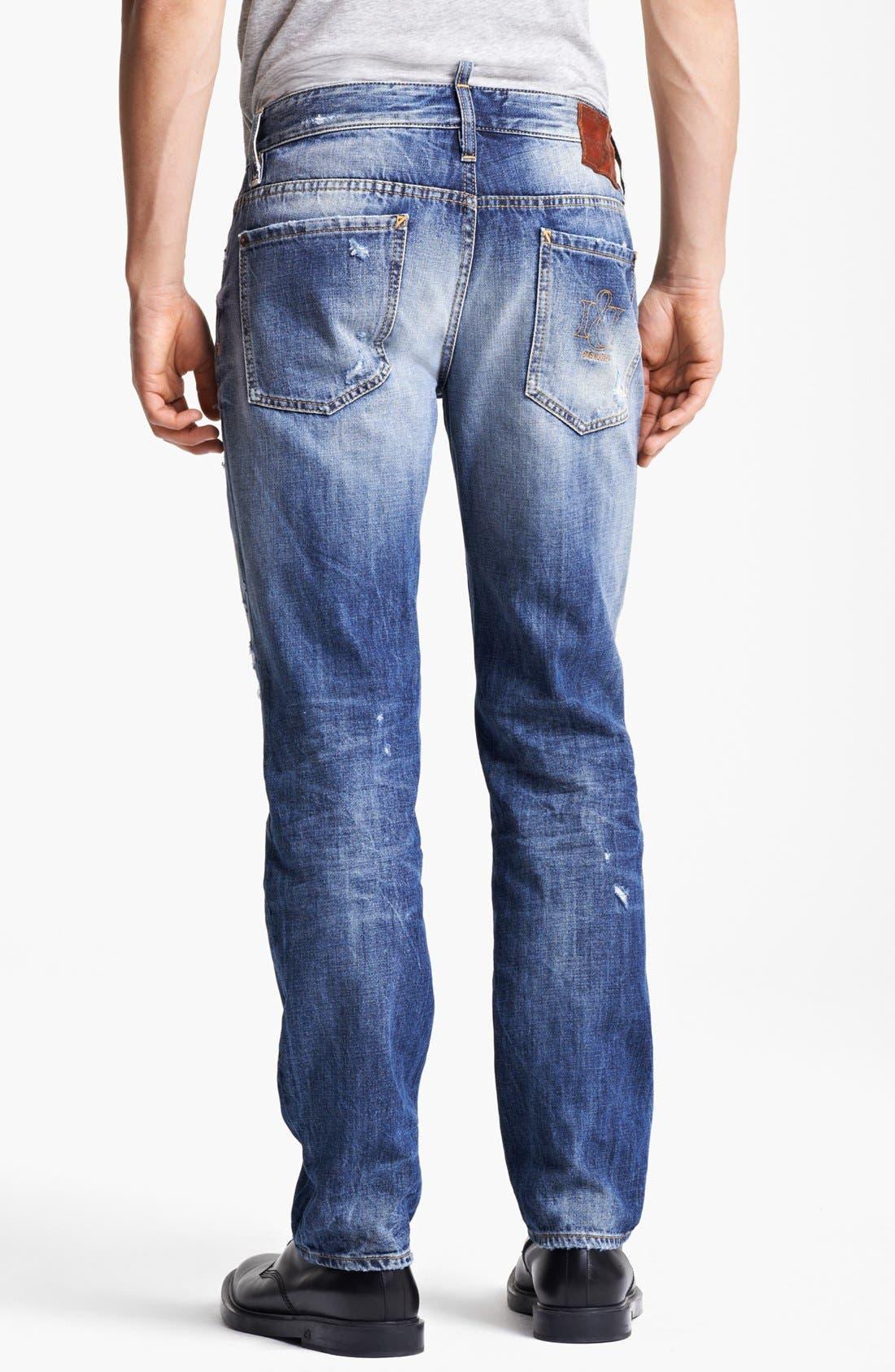 Alternate Image 2  - Dsquared2 'Dean' Slim Fit Jeans (Distressed Blue)