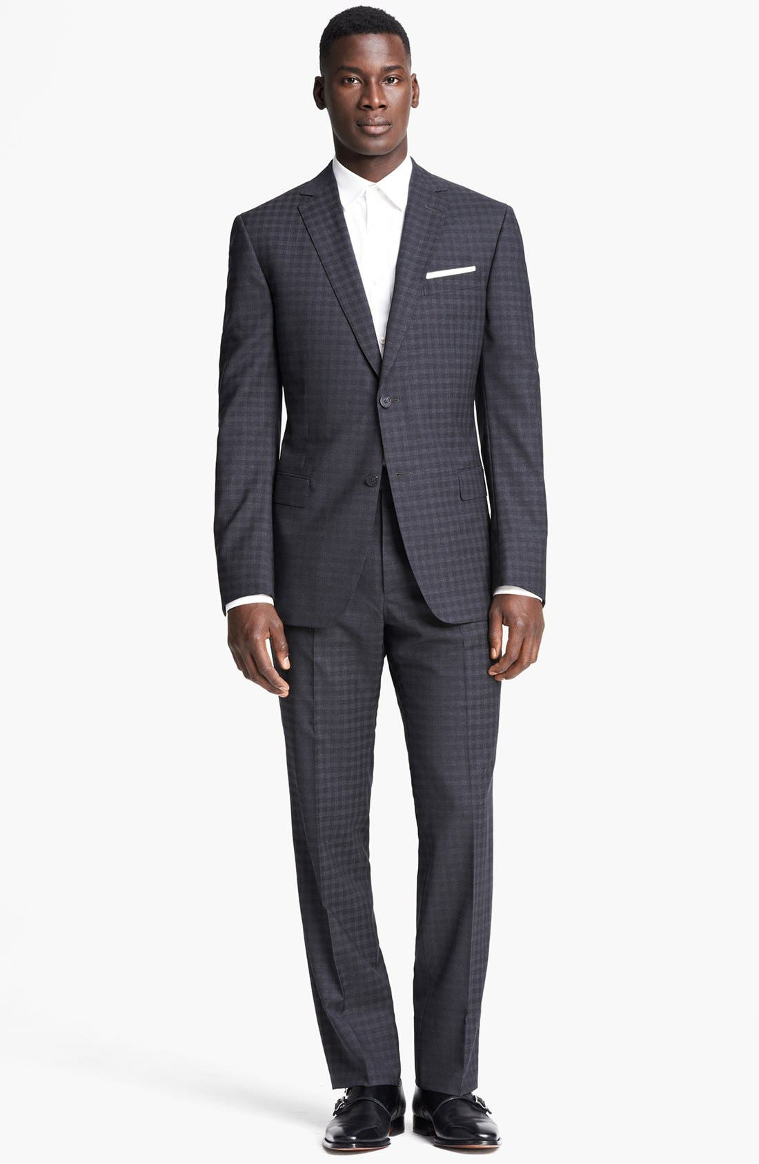 Alternate Image 1 Selected - Z Zegna 'City' Dark Grey Check Wool Suit