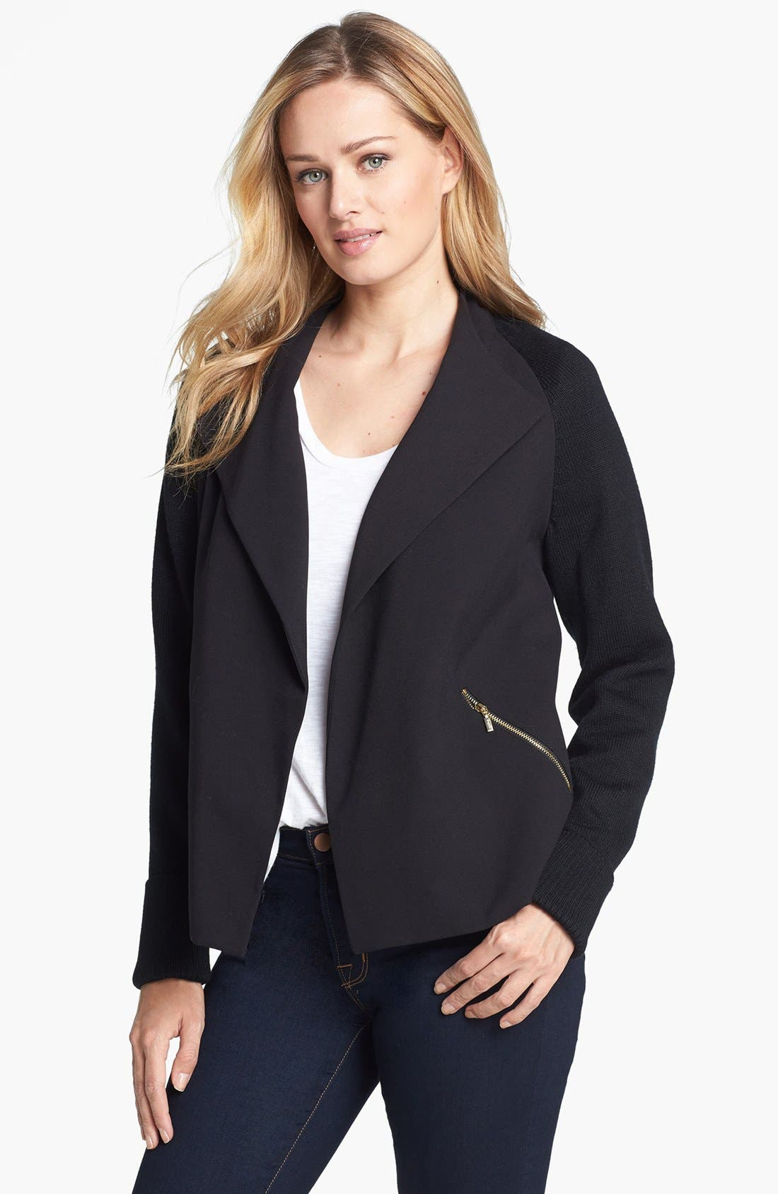 Alternate Image 1 Selected - Calvin Klein Open Front Jacket