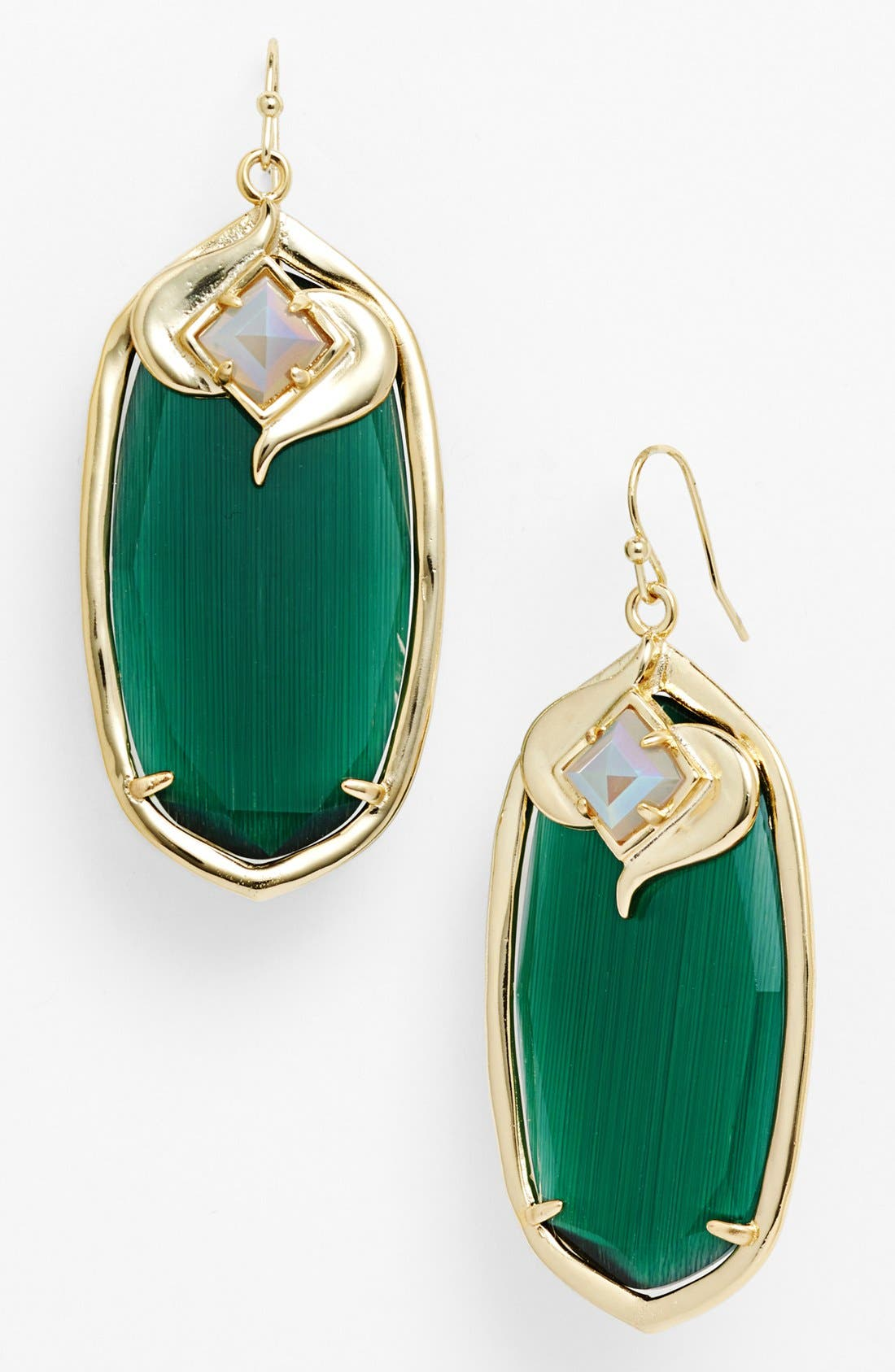Alternate Image 1 Selected - Kendra Scott 'Gabby' Oval Stone Drop Earrings