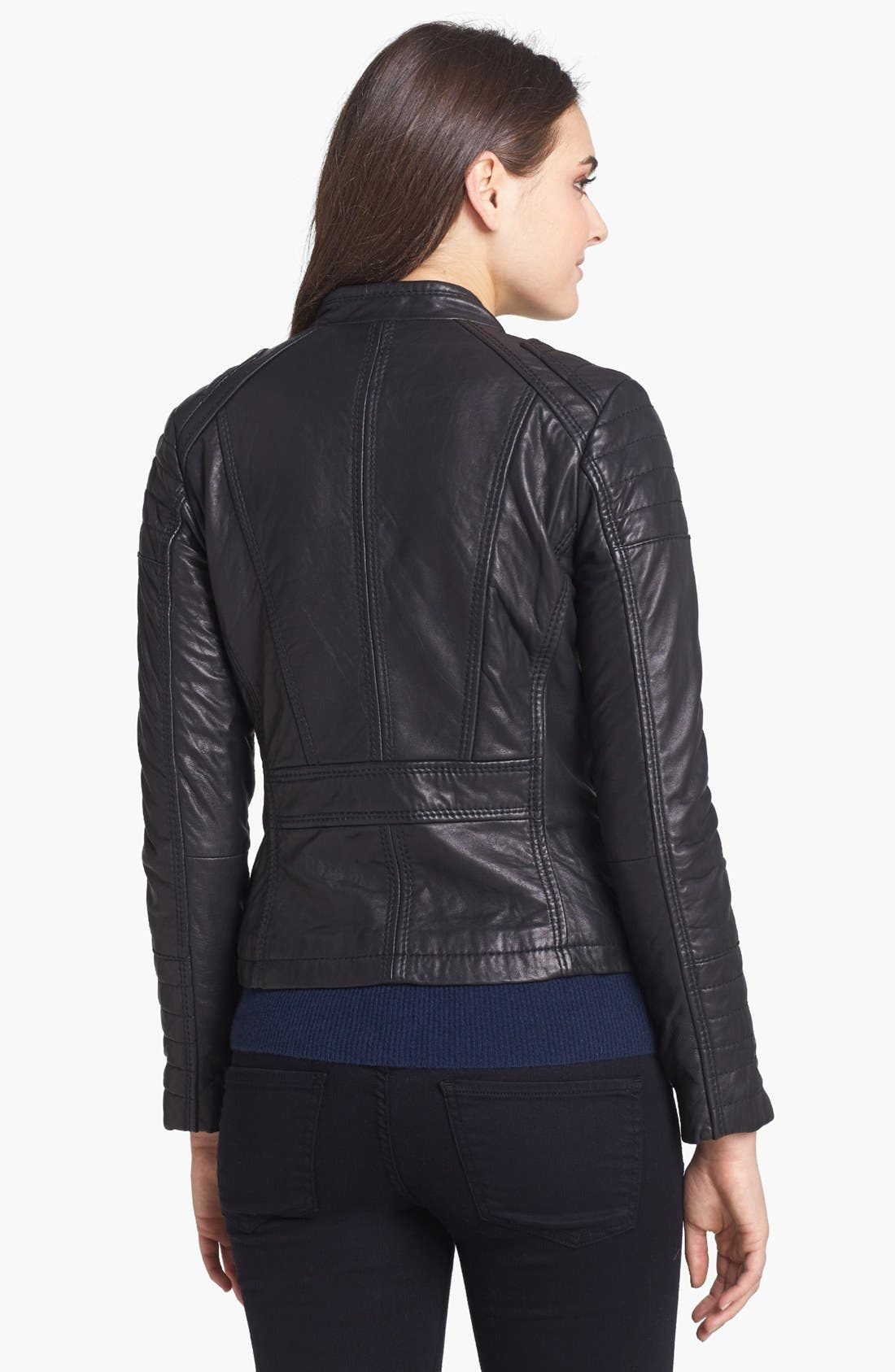 Alternate Image 2  - MICHAEL Michael Kors Leather Moto Jacket