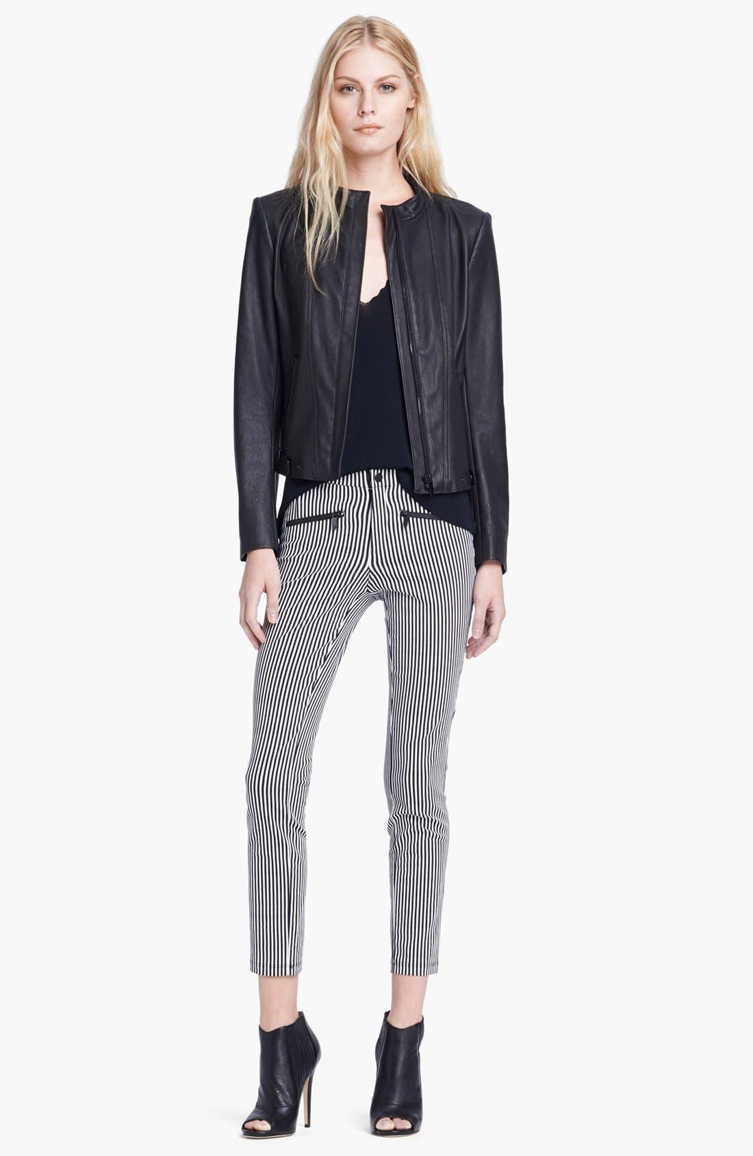 Alternate Image 3  - Theyskens' Theory 'Jylan Netch' Stripe Leather Jacket