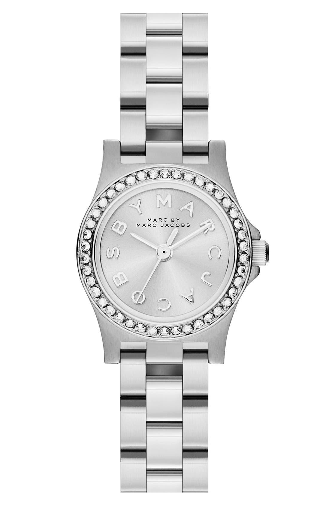 Alternate Image 1 Selected - MARC JACOBS 'Henry Dinky' Crystal Bracelet Watch, 21mm