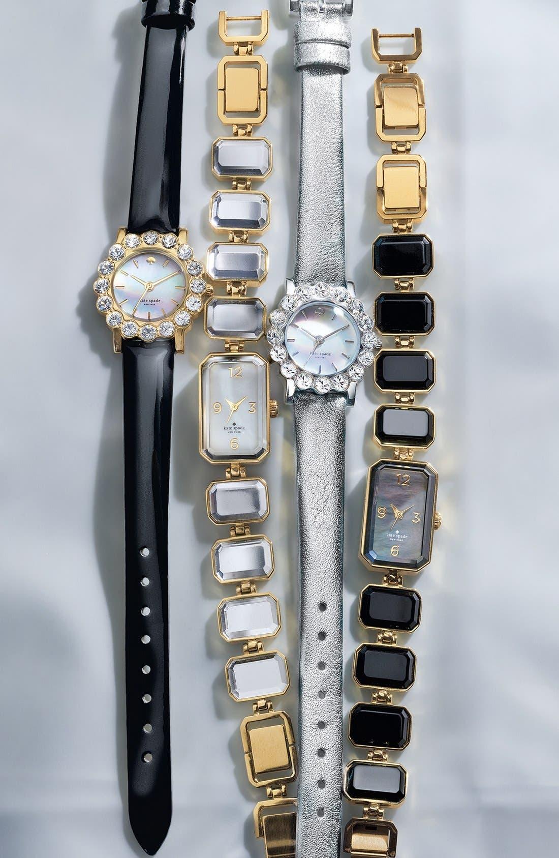 Alternate Image 4  - kate spade new york 'belvedere' crystal bezel watch, 24mm
