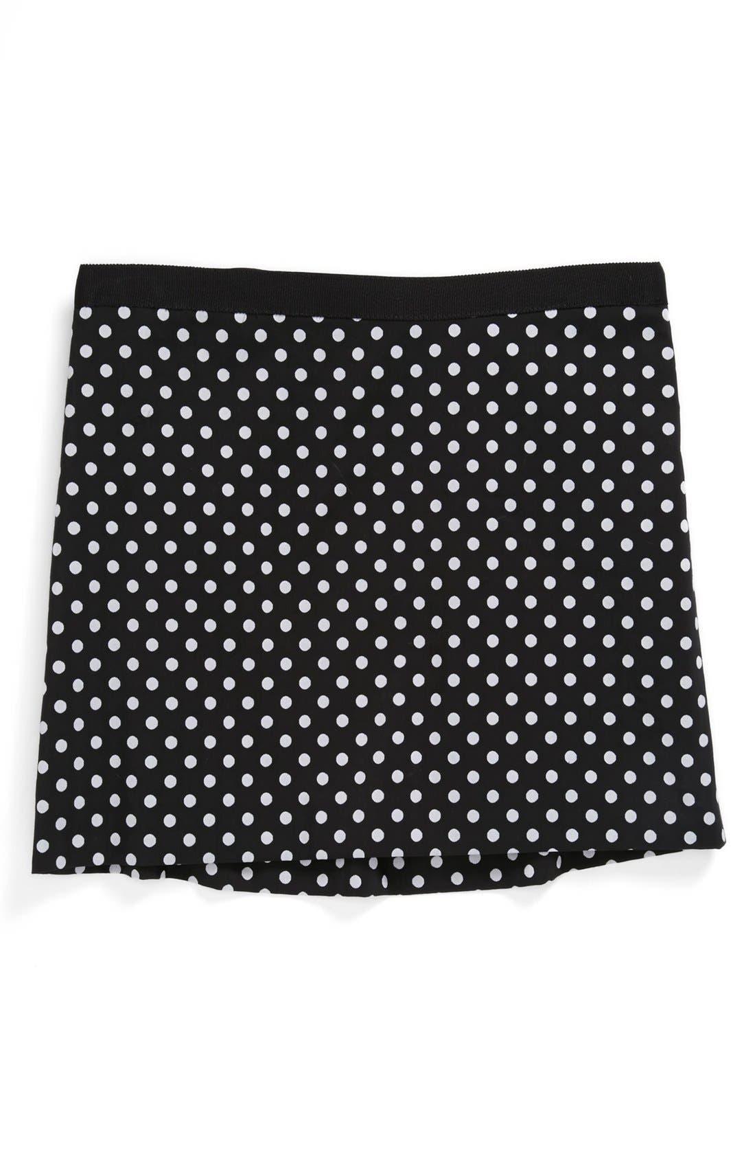 Alternate Image 1 Selected - Milly Minis Polka Dot Skirt (Toddler Girls, Little Girls & Big Girls)