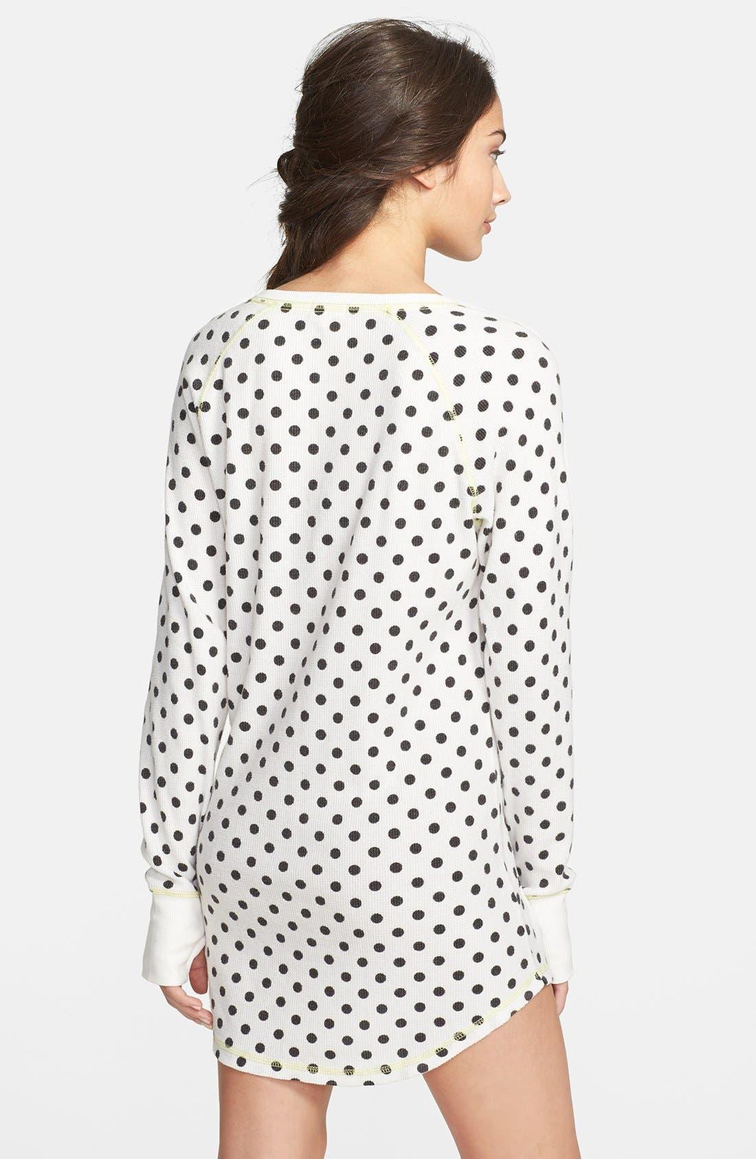Alternate Image 2  - PJ Salvage Brushed Thermal Sleep Shirt