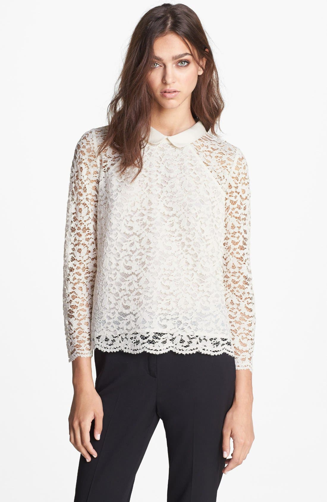 Alternate Image 1 Selected - The Kooples Peter Pan Collar Lace Blouse