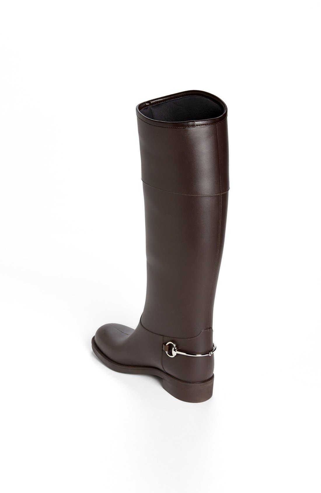 Alternate Image 2  - Gucci Rubber Waterproof Rain Boot