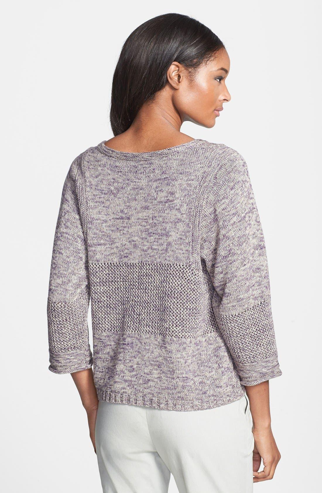 Alternate Image 2  - Lafayette 148 New York Multi Stitch Sweater